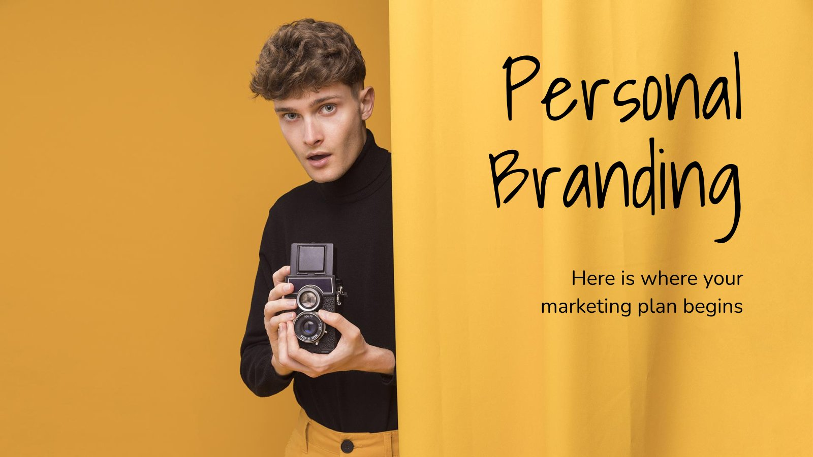 Modelo de apresentação Branding pessoal