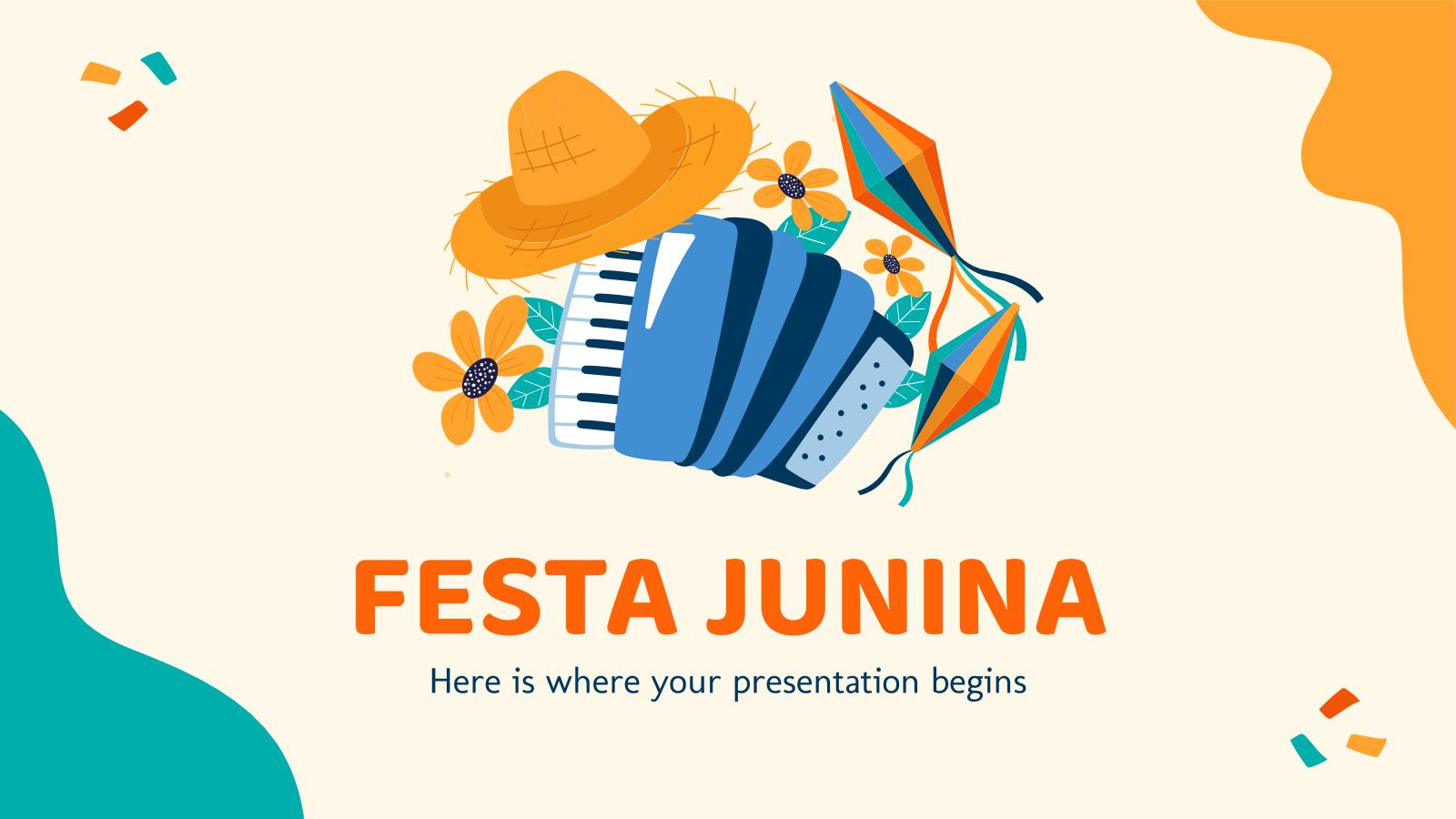 Plantilla de presentación Fiestas juninas