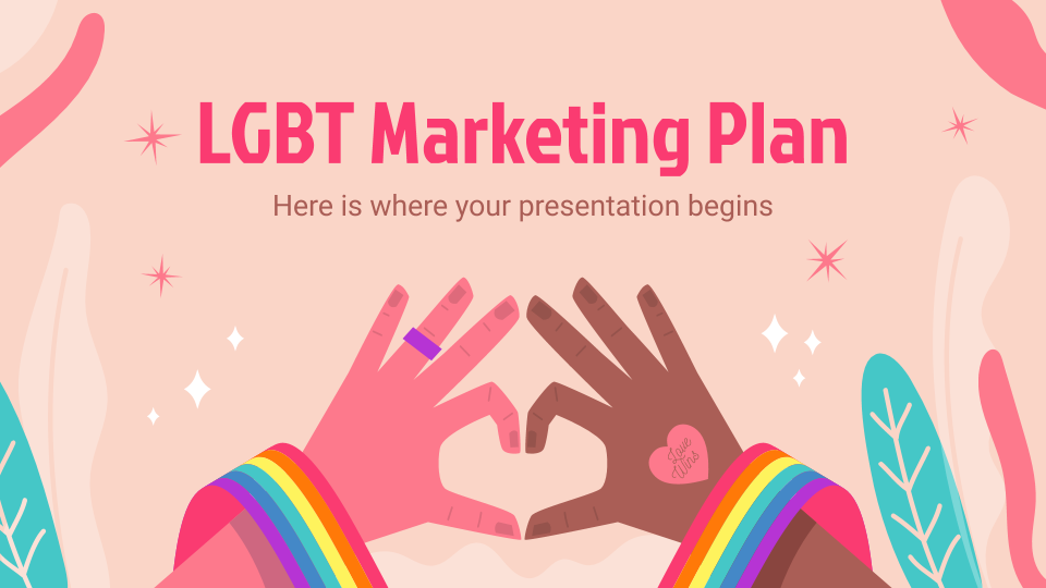 Plantilla de presentación Plan de marketing sobre LGBT