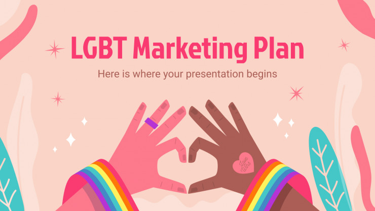 Modelo de apresentação Plano de marketing LGBT