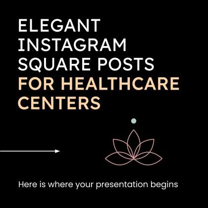 Elegante Posts für Instagram über Gesundheitszentren Präsentationsvorlage