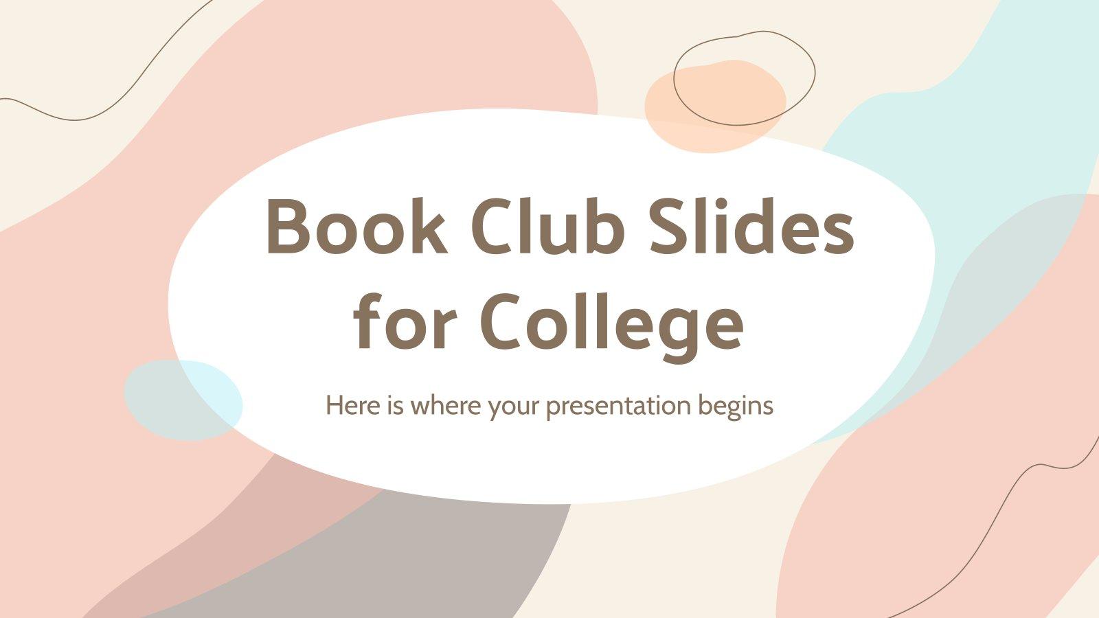 Club de lecture universitaire : Modèles de présentation