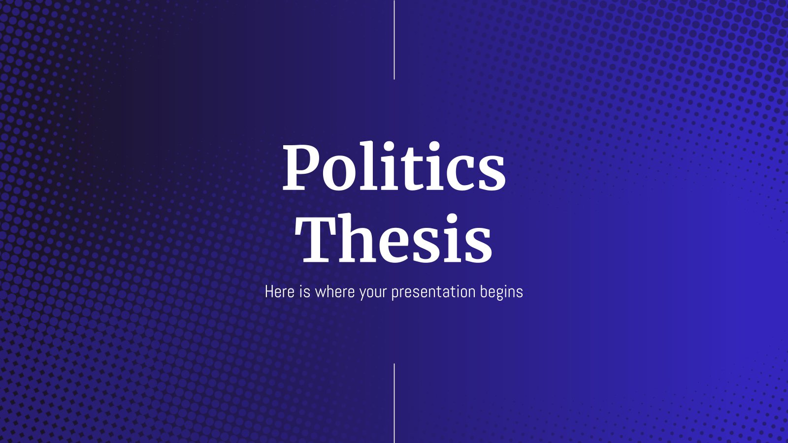 Plantilla de presentación Tesis de ciencia política