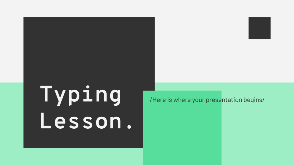 Typing Lesson presentation template