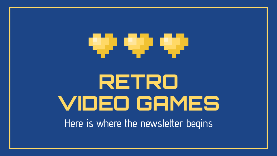 Retro Video Games Newsletter presentation template