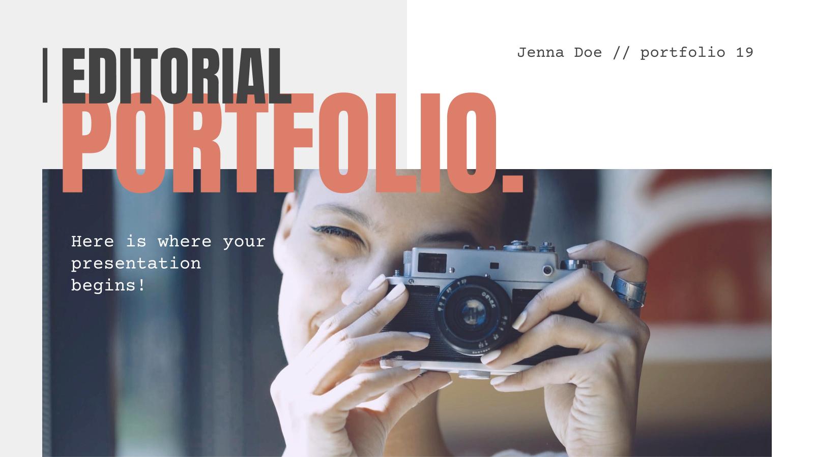 Modelo de apresentação Portfólio de design editorial