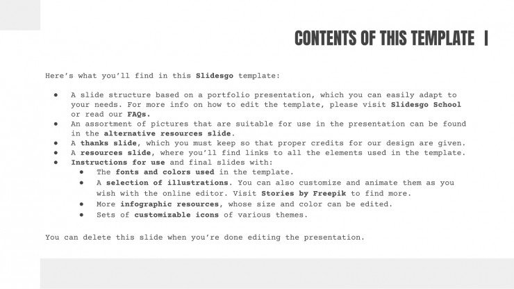 Editorial Design Portfolio presentation template