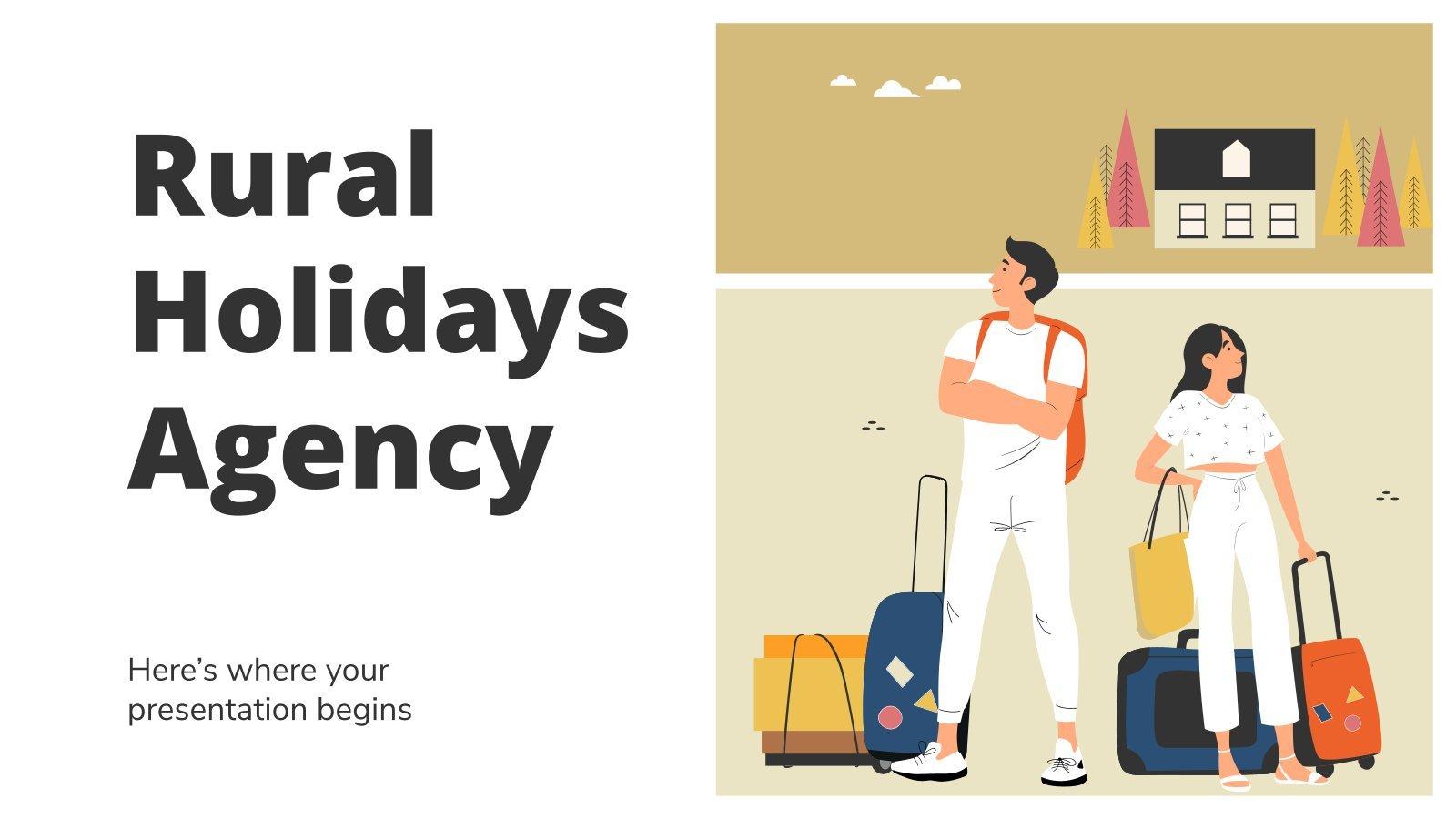 Agentur für Urlaub auf dem Land Präsentationsvorlage