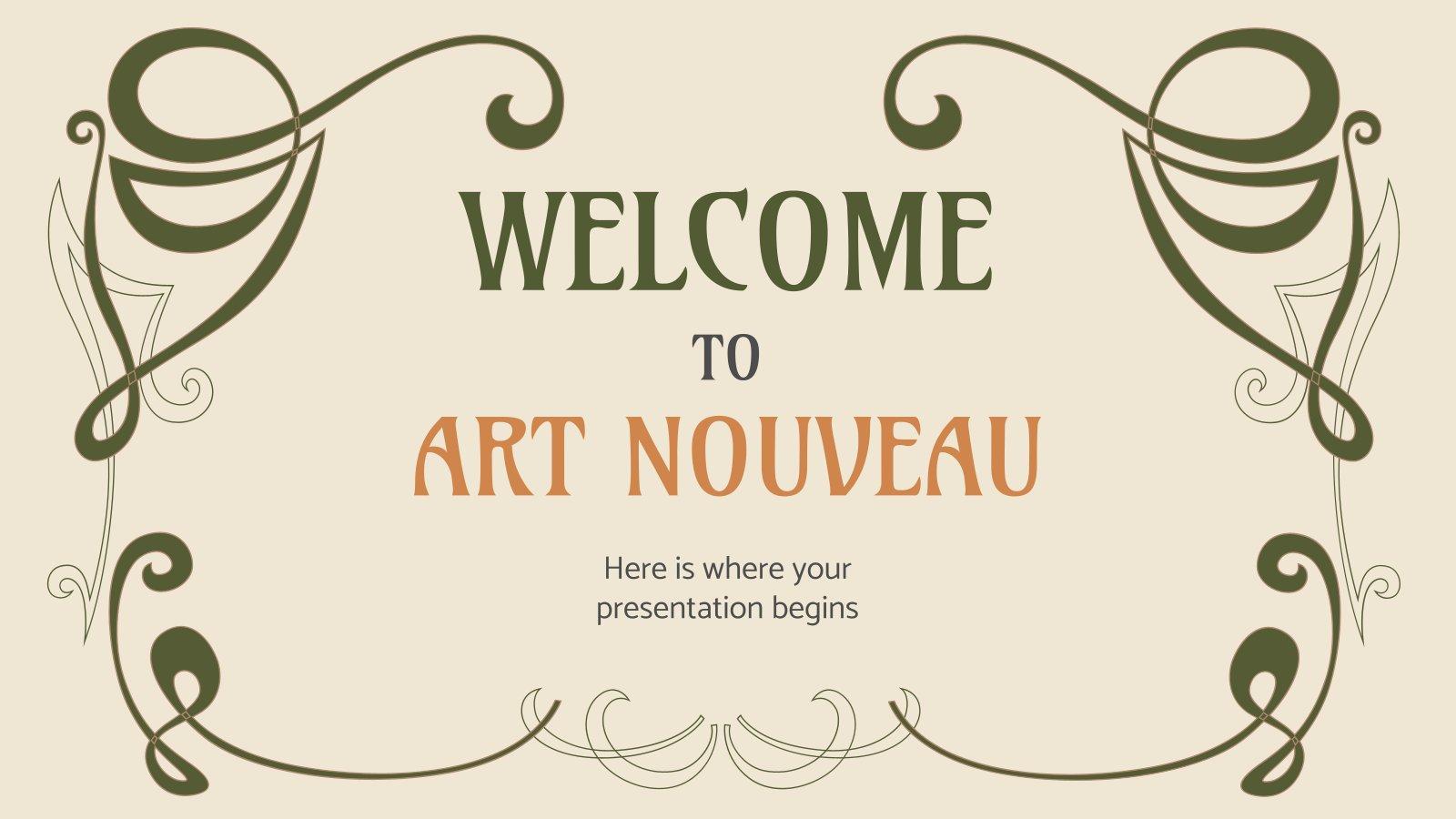 Willkommen bei Art Nouveau Präsentationsvorlage