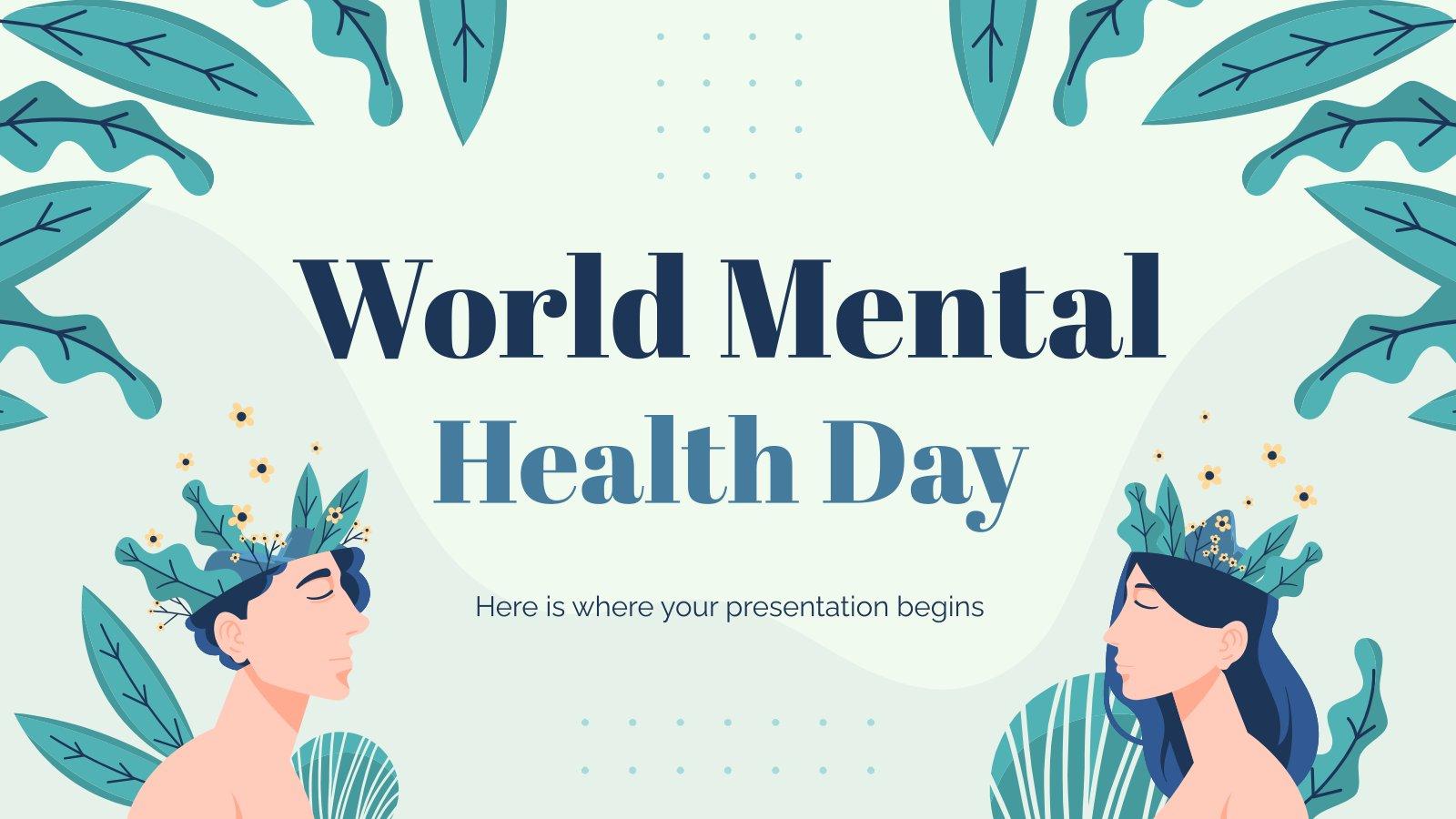 Journée mondiale de la santé mentale : Modèles de présentation