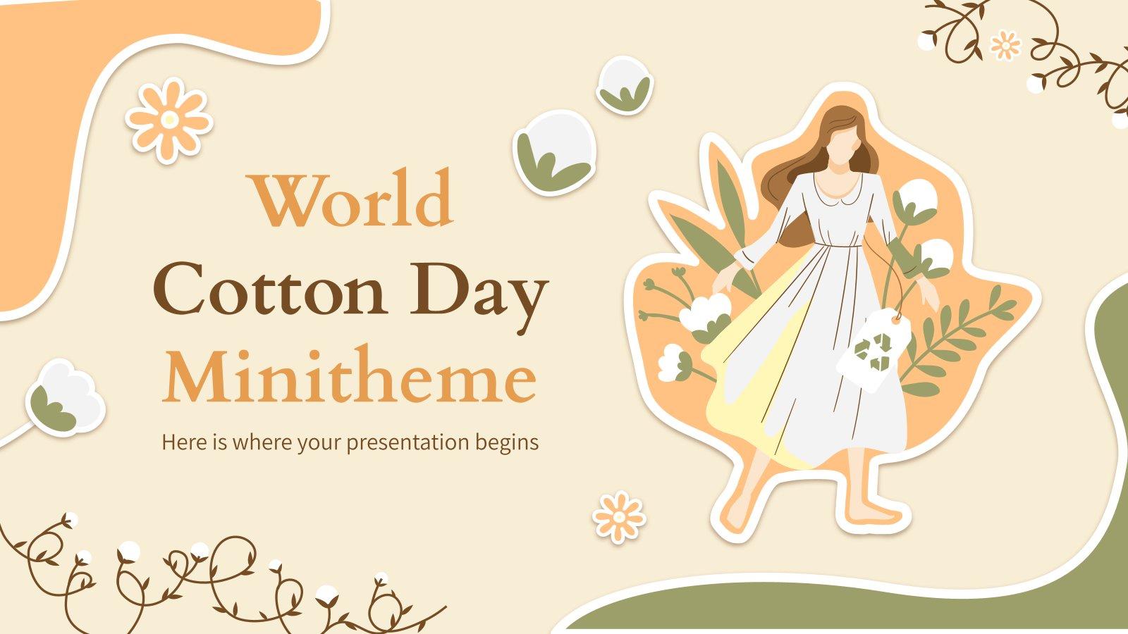Modelo de apresentação Minitema do Dia Mundial do Algodão