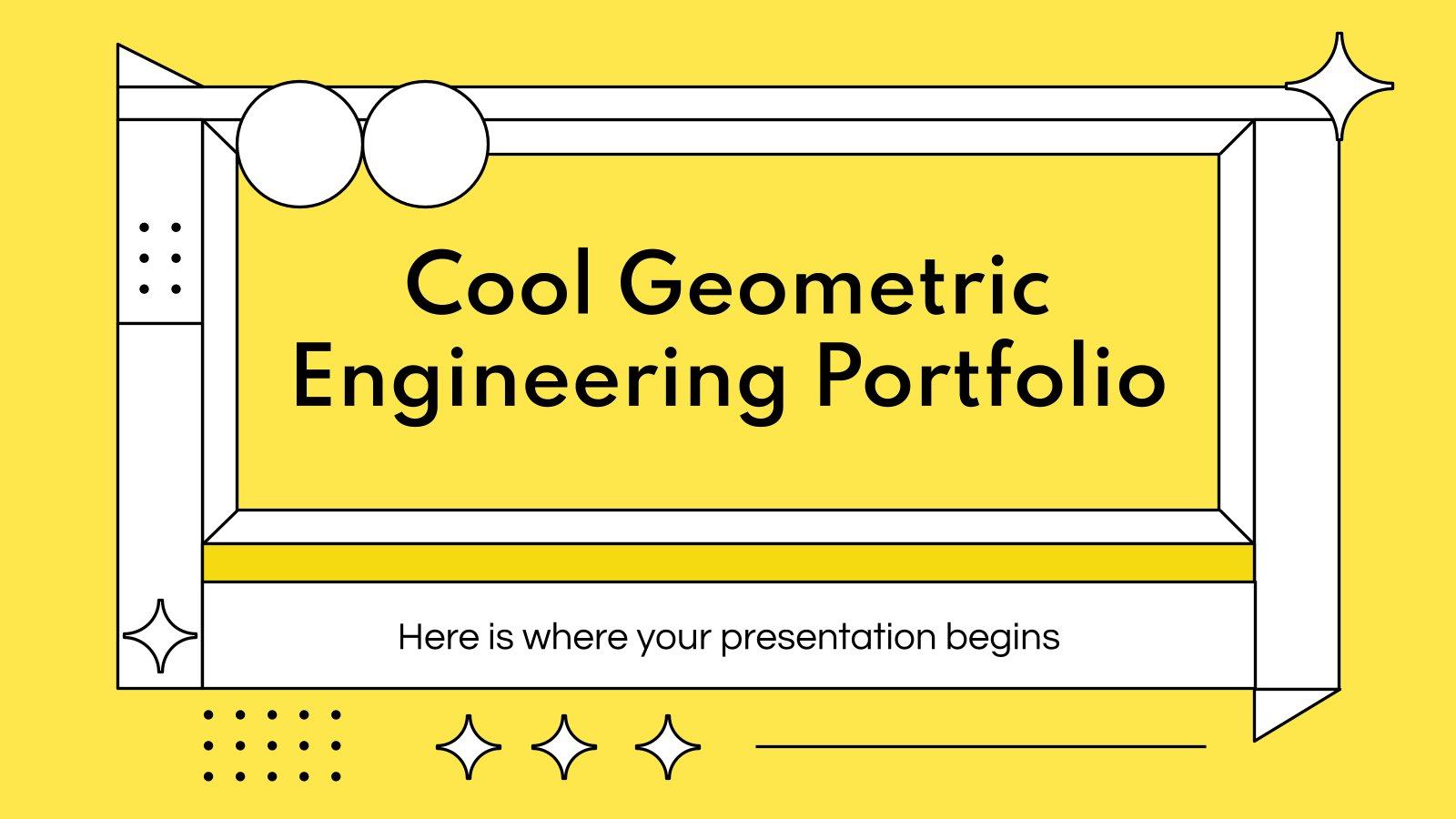 Cooles Geometrisches Ingenieurportfolio Präsentationsvorlage