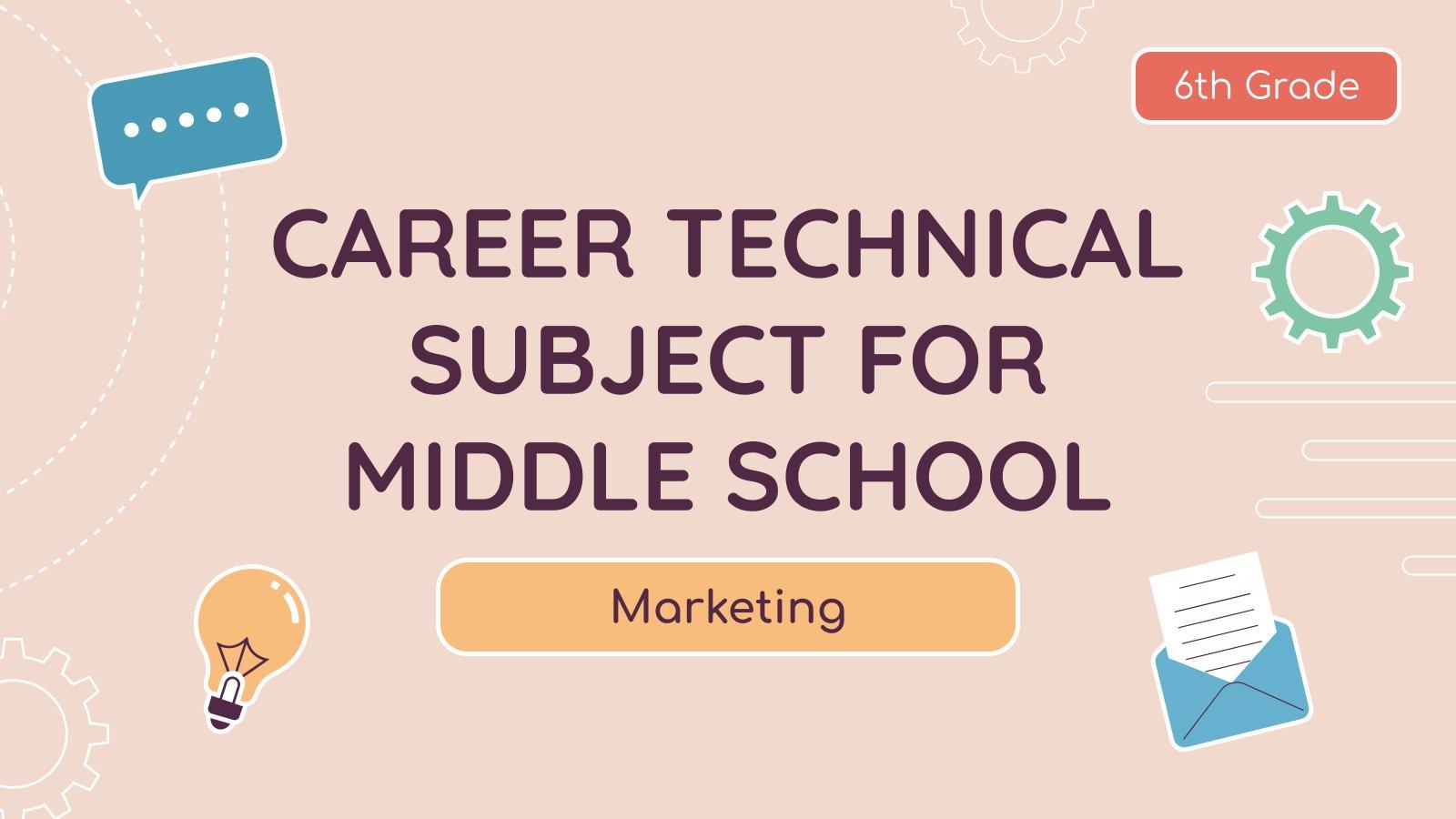 Modelo de apresentação Especialidade para o ensino médio: Marketing