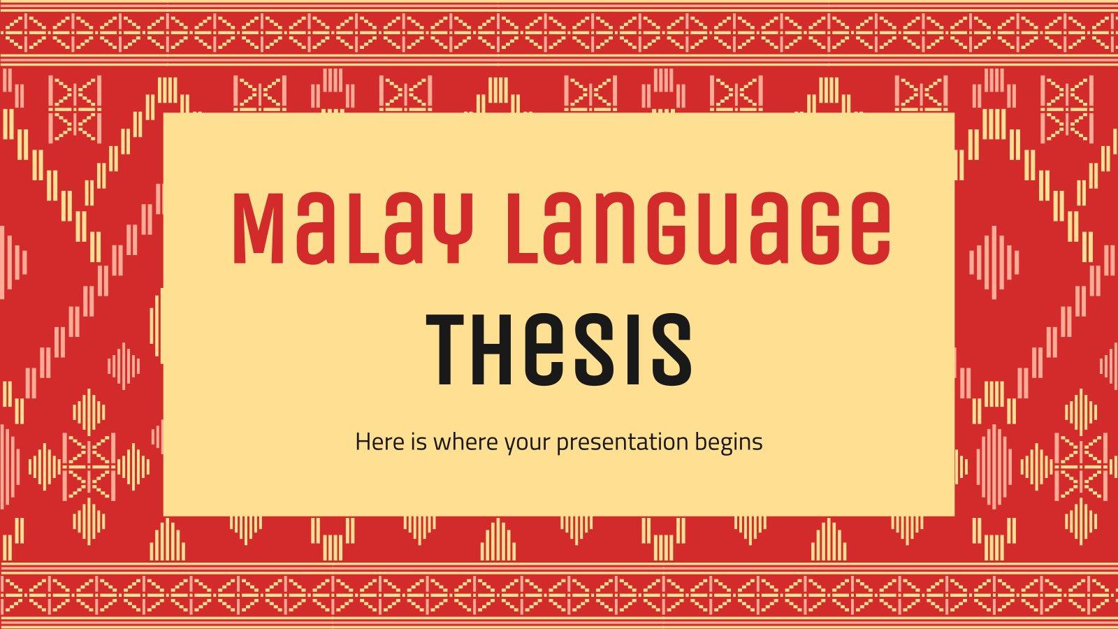 Modelo de apresentação Tese sobre a língua malaia