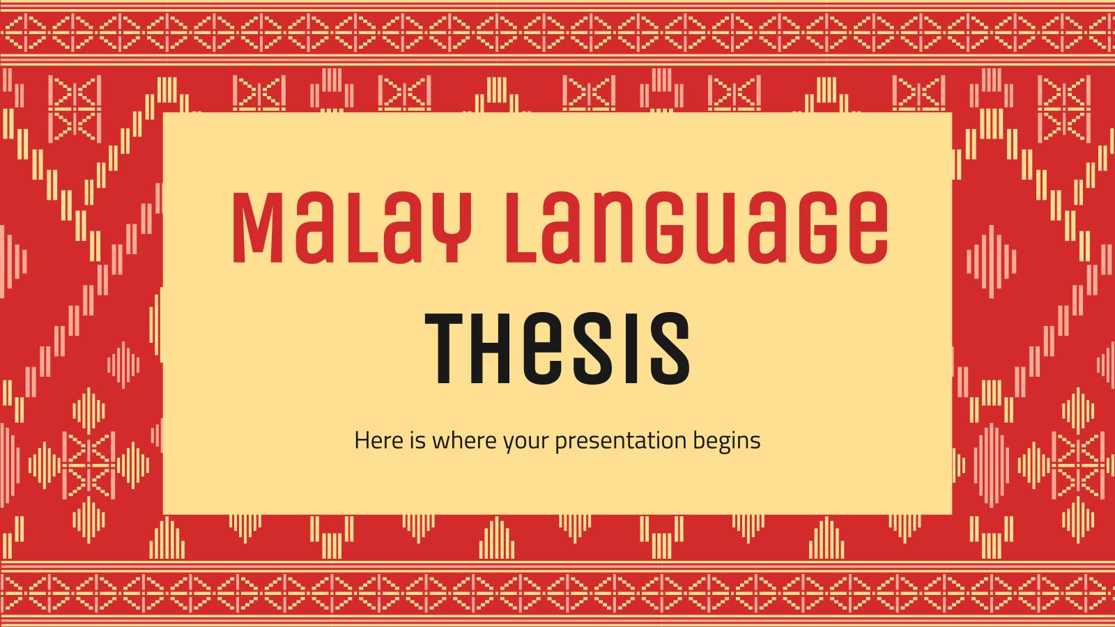 Plantilla de presentación Tesis sobre el malayo
