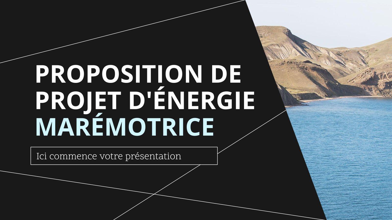 Modelo de apresentação Proposta do projeto de energia das marés