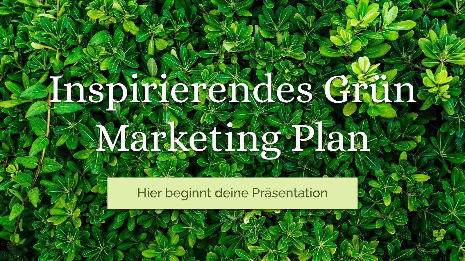 Modelo de apresentação Plano de marketing verde inspirador