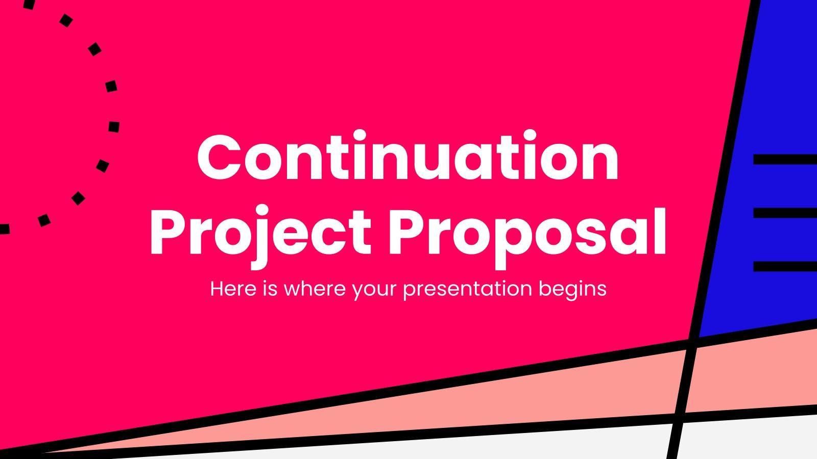Vorschlag für ein Fortsetzungsprojekt Präsentationsvorlage