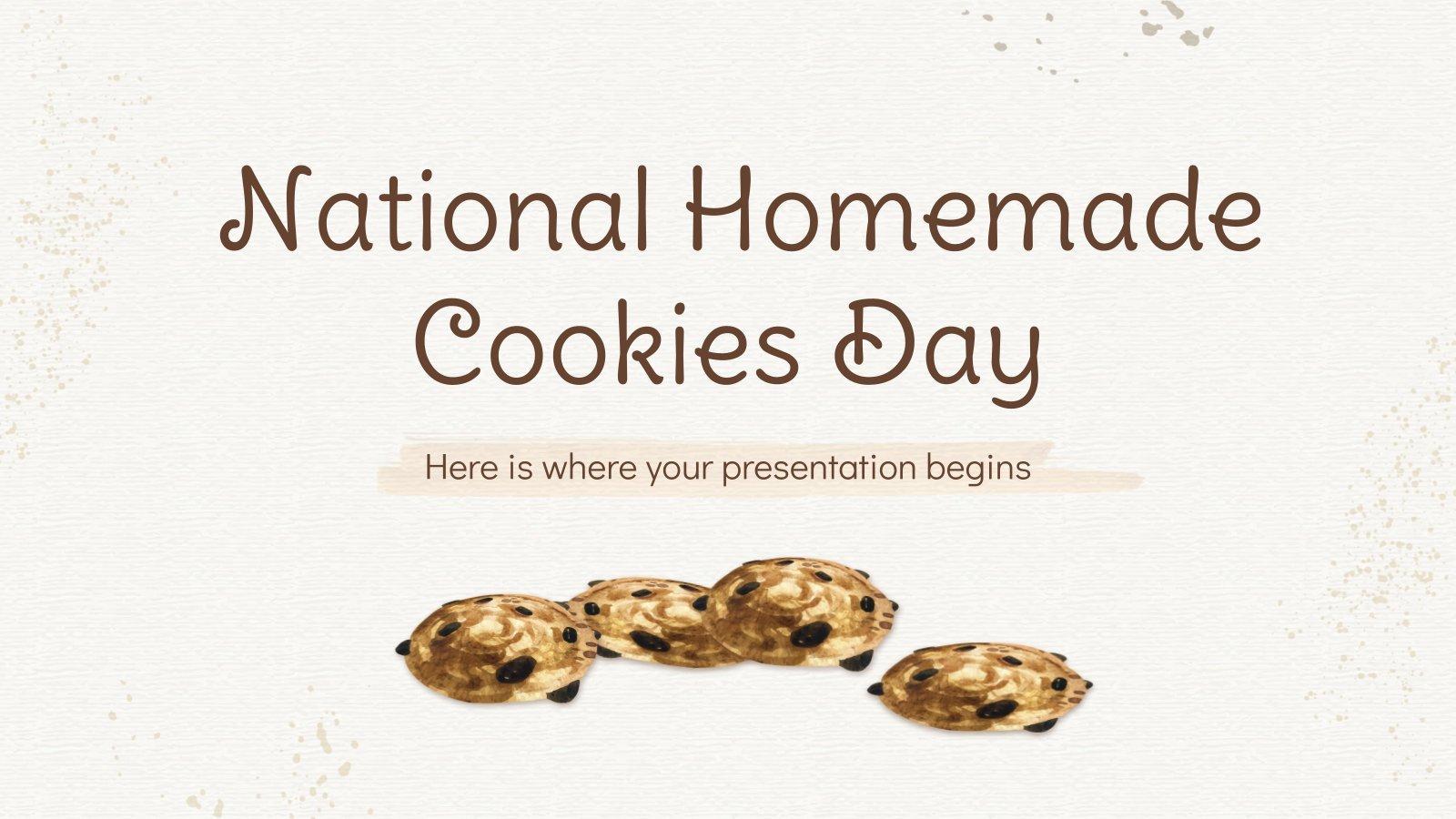 Plantilla de presentación Día nacional de las galletas caseras en EE. UU.