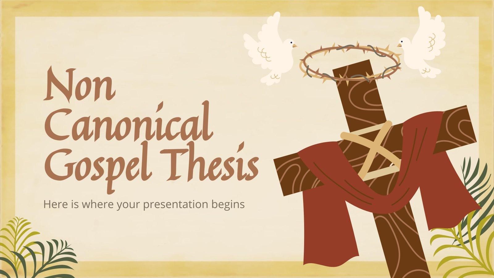 Plantilla de presentación Tesis sobre los Evangelios apócrifos