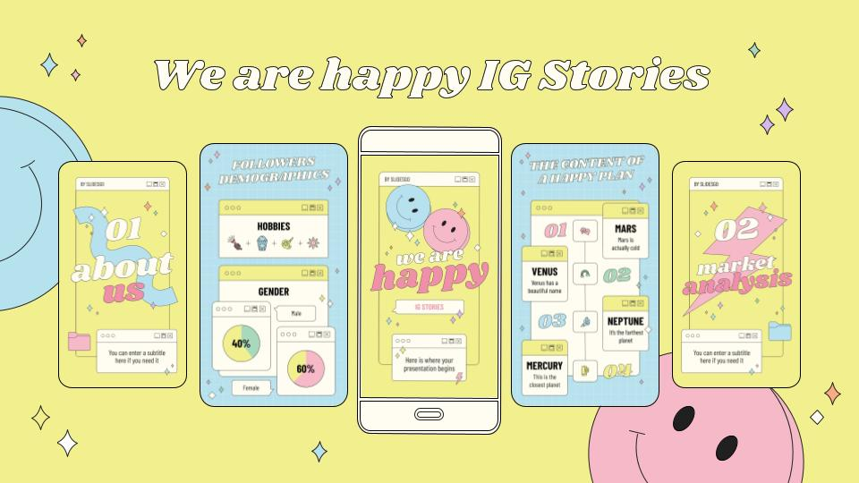 We Are Happy IG Stories presentation template