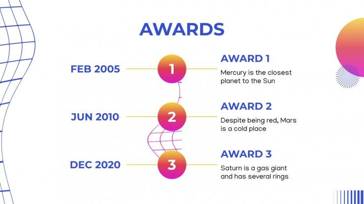 Company History Timeline presentation template