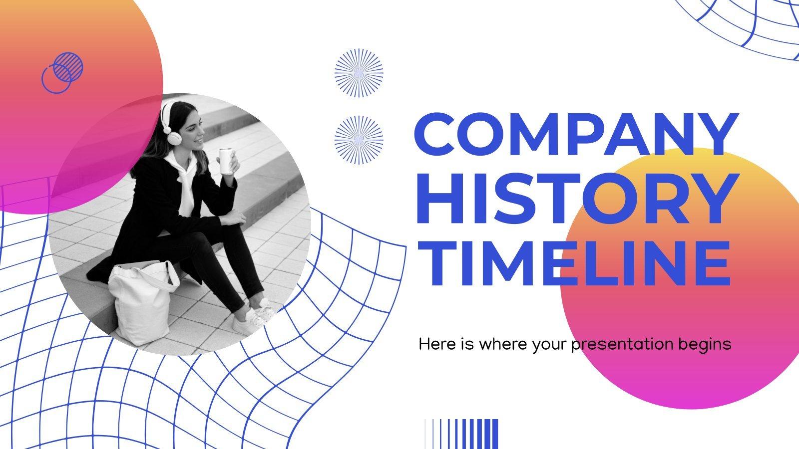 Chronologie et l'histoire de l'entreprise : Modèles de présentation