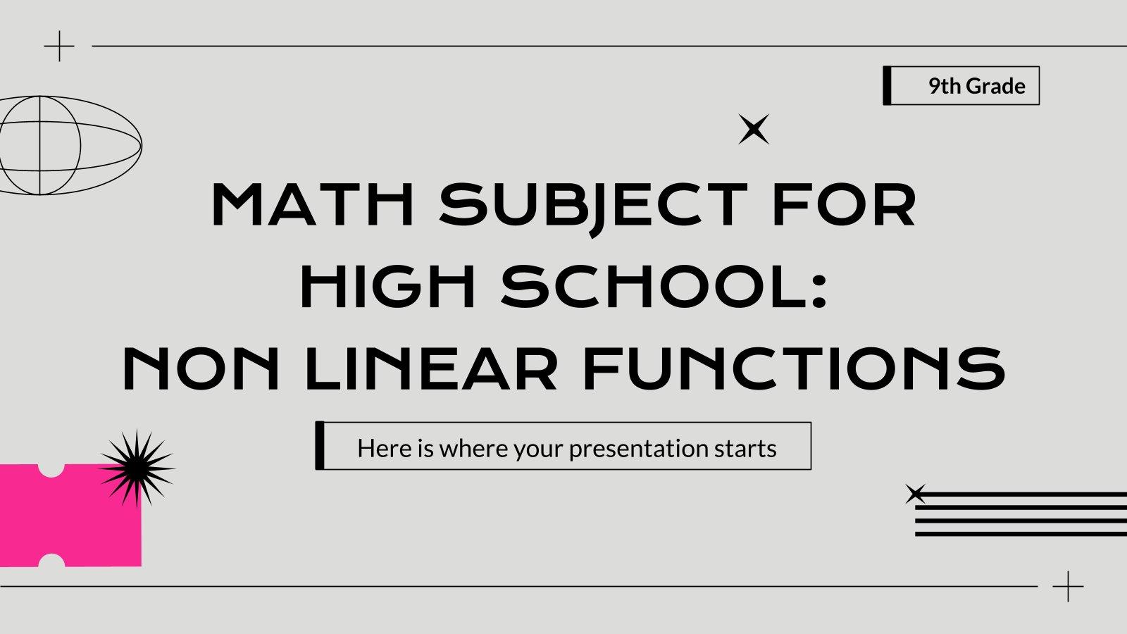 Mathematik für die 9. Klasse: Nichtlineare Funktionen Präsentationsvorlage