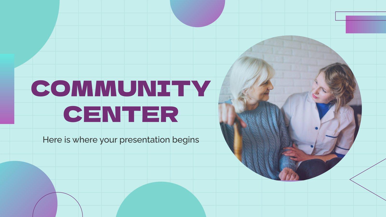 Plantilla de presentación Centro social