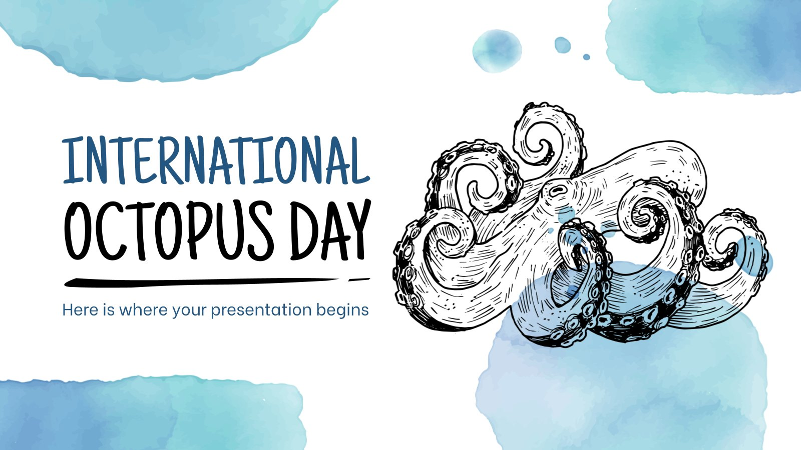 Modelo de apresentação Dia Internacional do Polvo