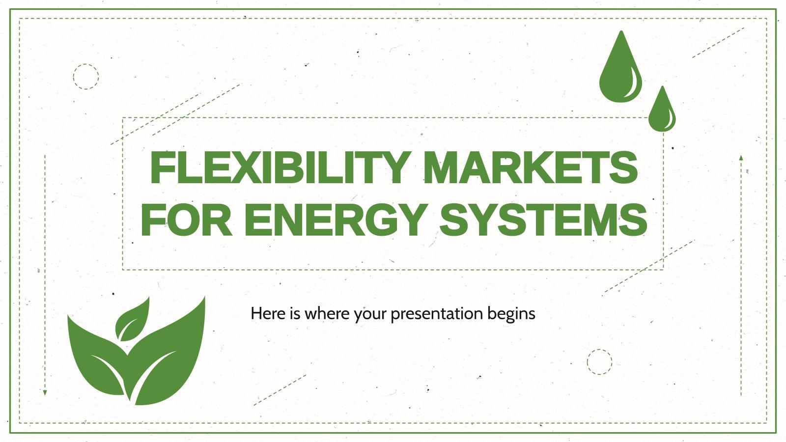 Modelo de apresentação Mercados de flexibilidade para sistemas de energia