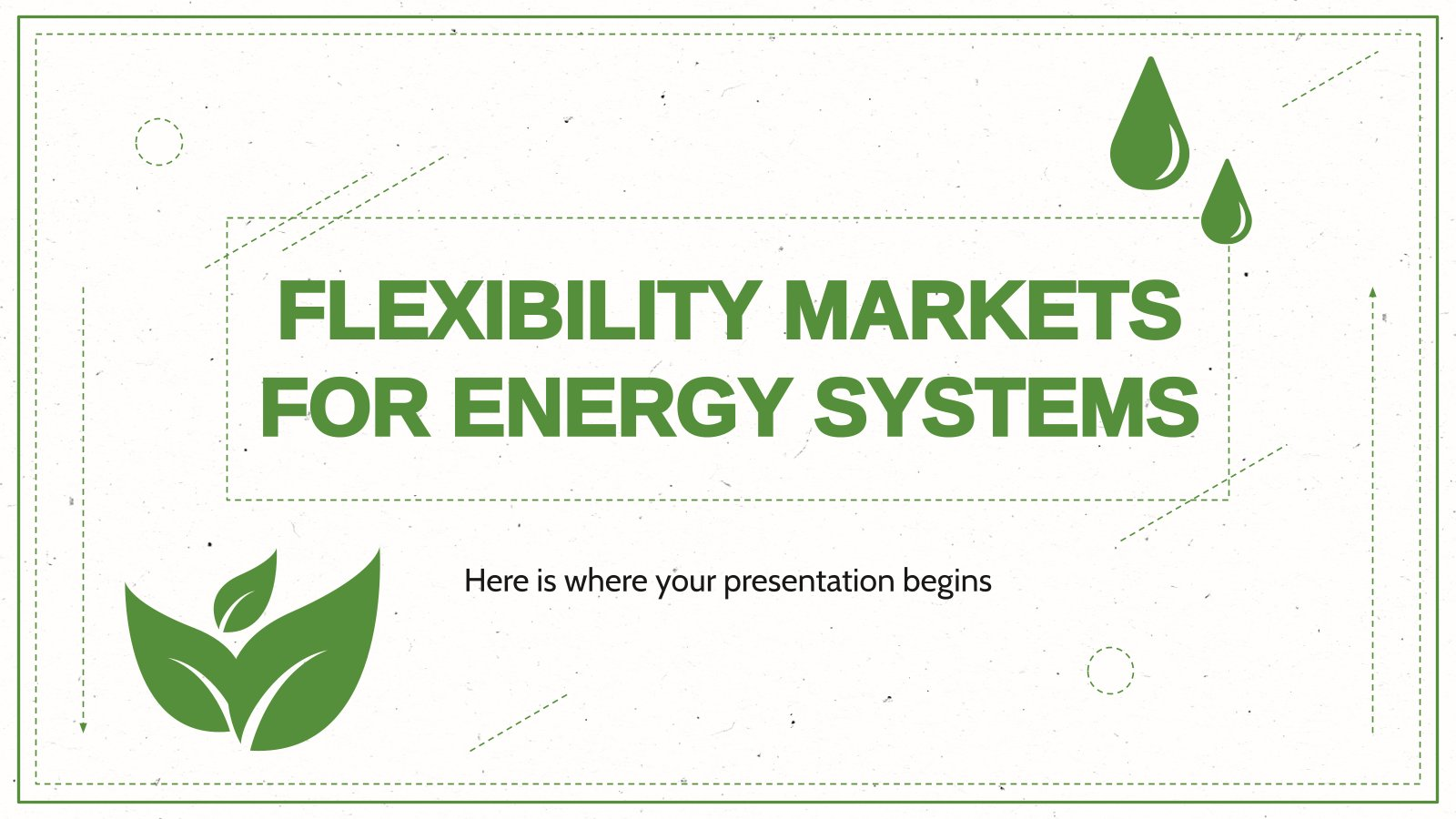 Plantilla de presentación Mercados flexibles para energéticas