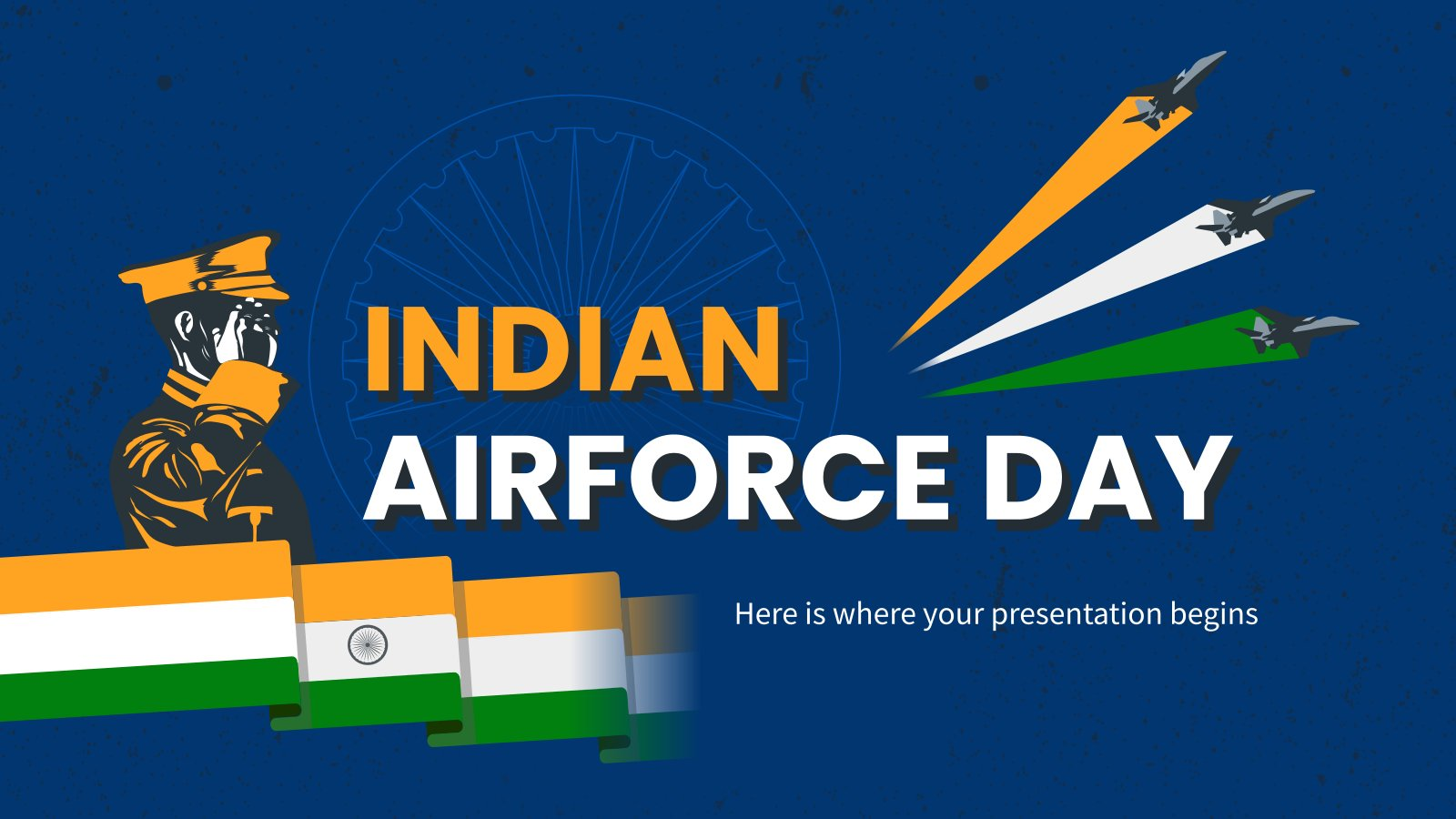 Indian Airforce Day presentation template