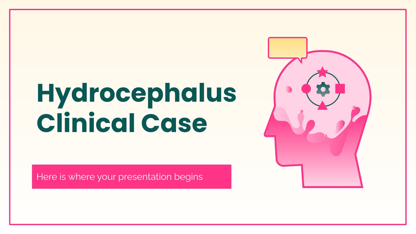 Modelo de apresentação Caso clínico de hidrocefalia