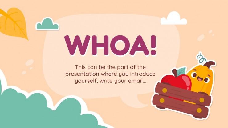 Plantilla de presentación Stickers de otoño para marketing