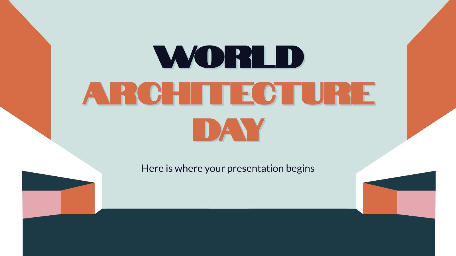 Tag der Architektur Präsentationsvorlage
