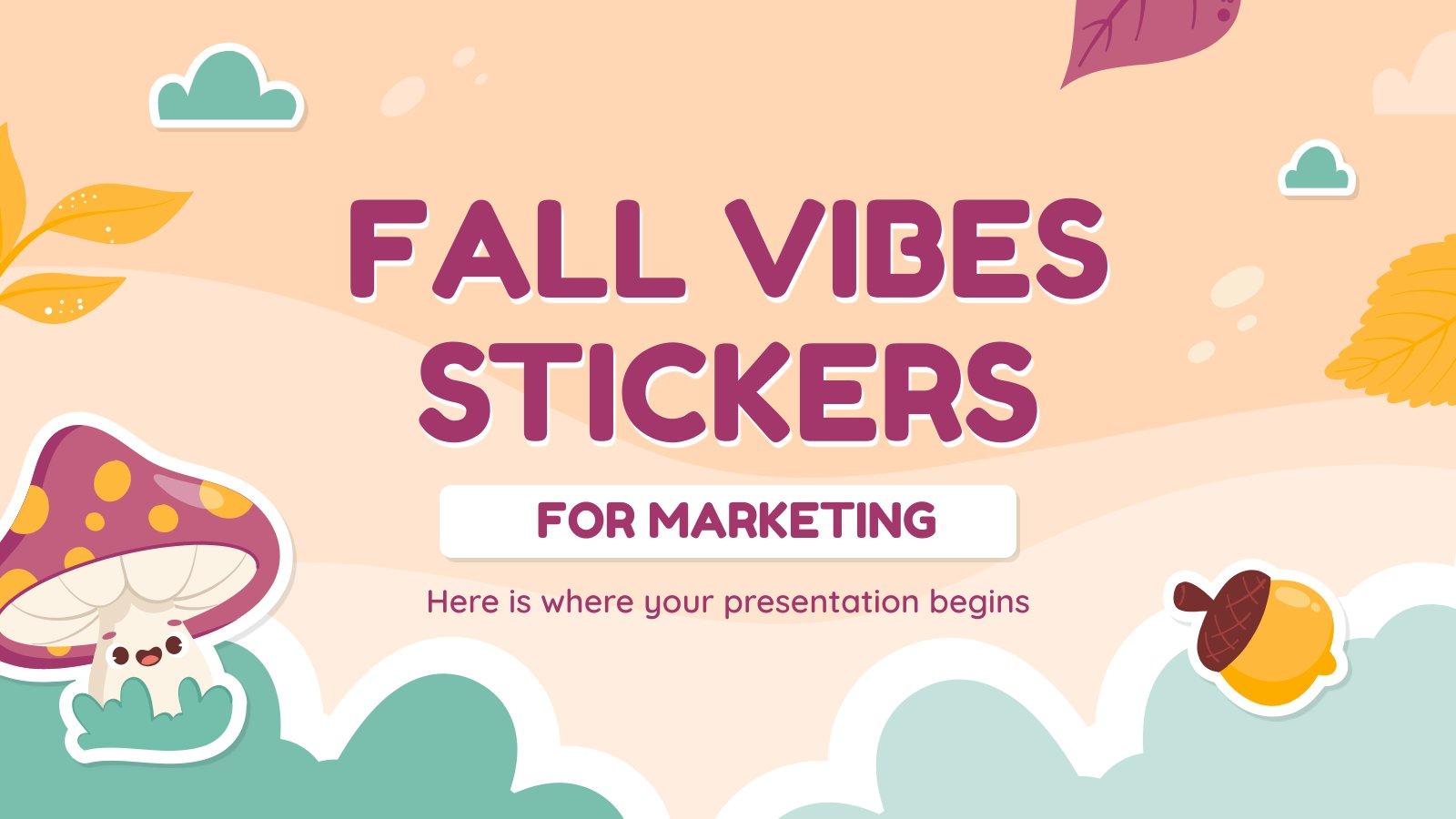 Modelo de apresentação Adesivos de outono para o marketing
