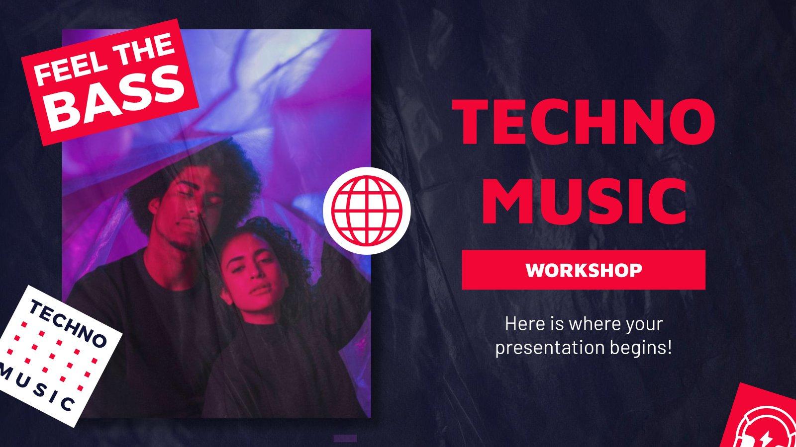 Atelier de musique techno : Modèles de présentation