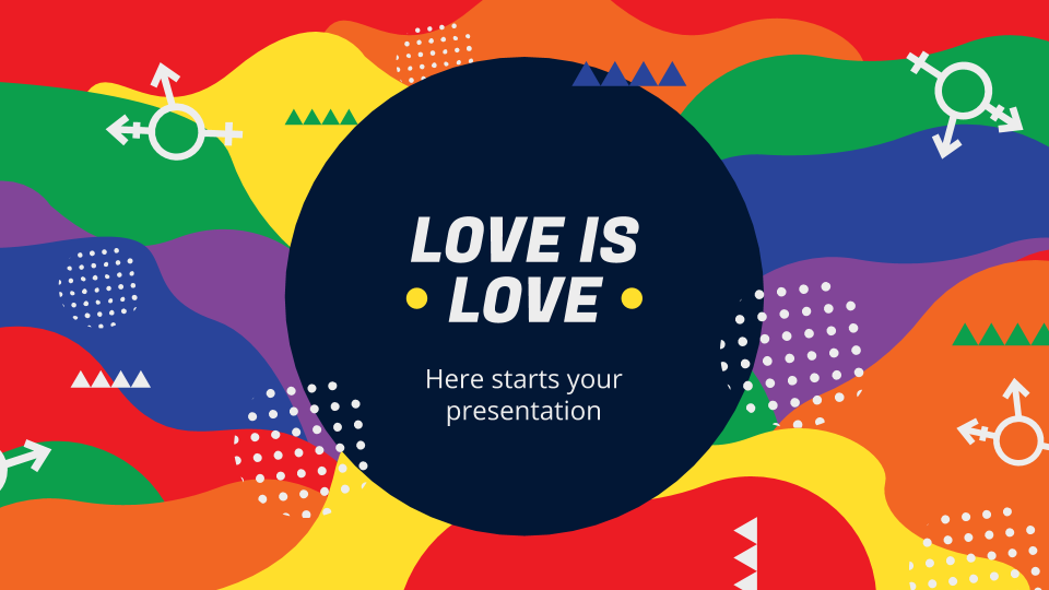 Love Is Love presentation template