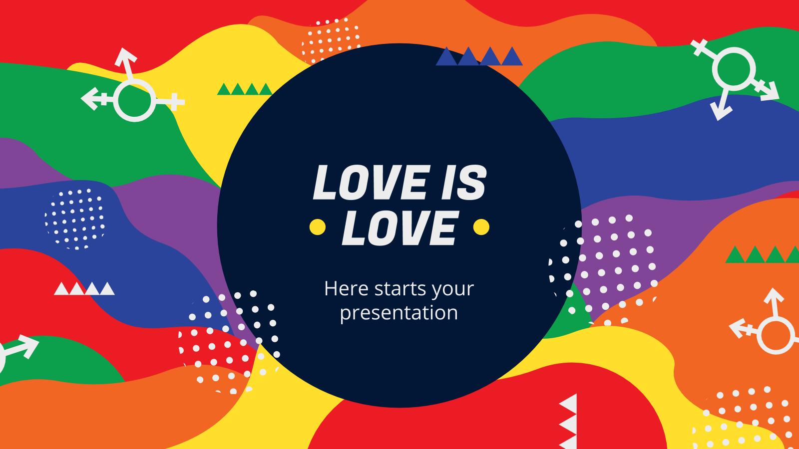 Modelo de apresentação O amor é tudo