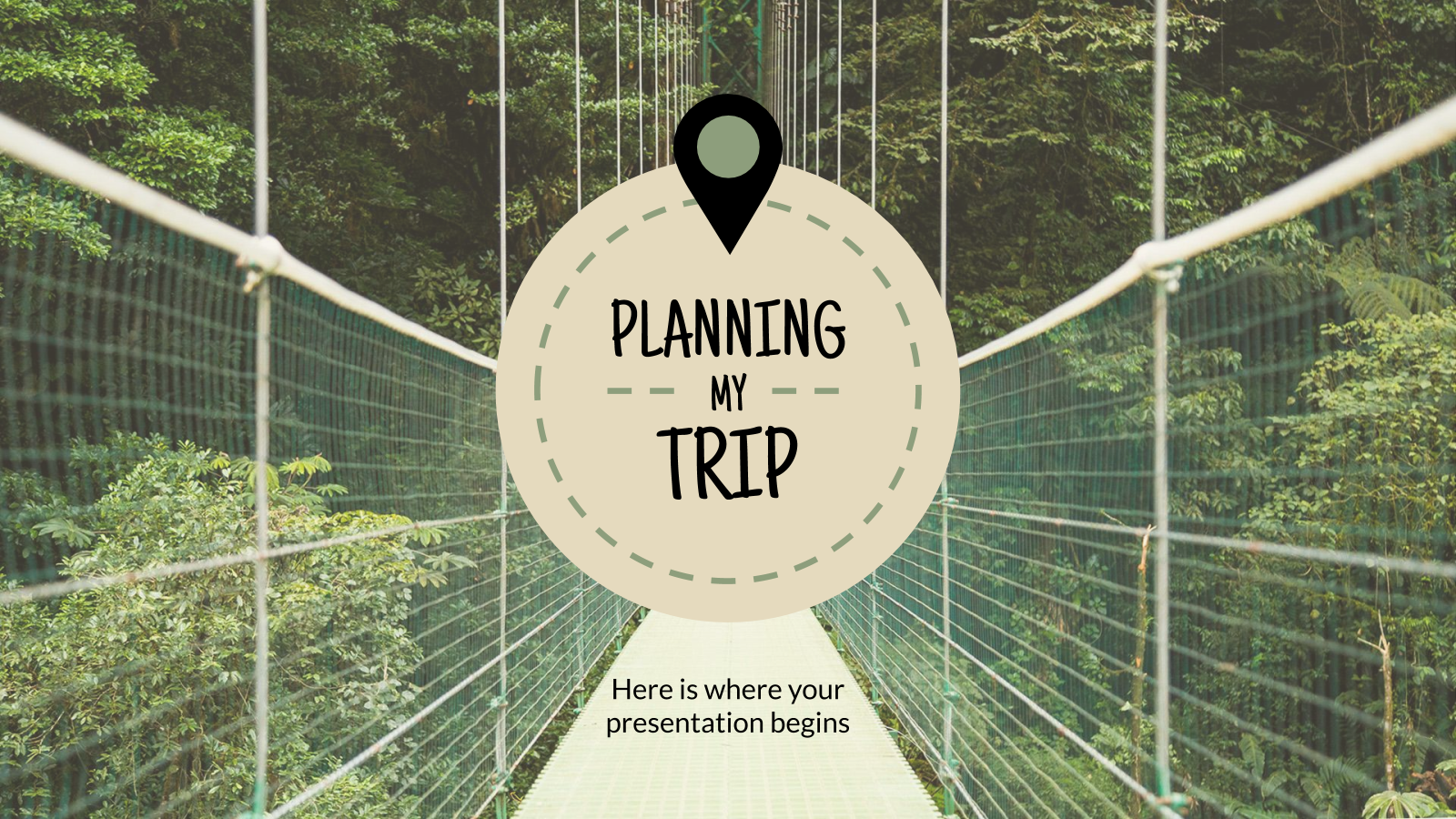 Planning My Trip presentation template