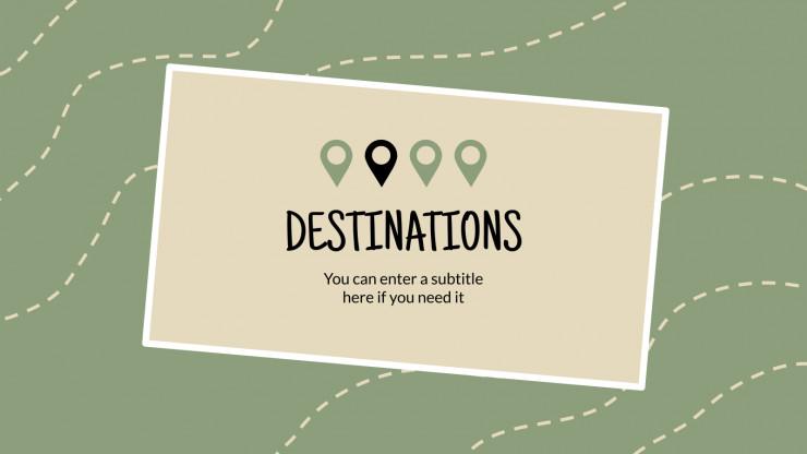 Planning de voyage : Modèles de présentation