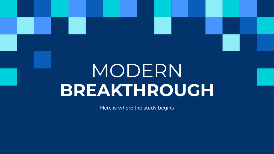 Modern Breakthrough presentation template