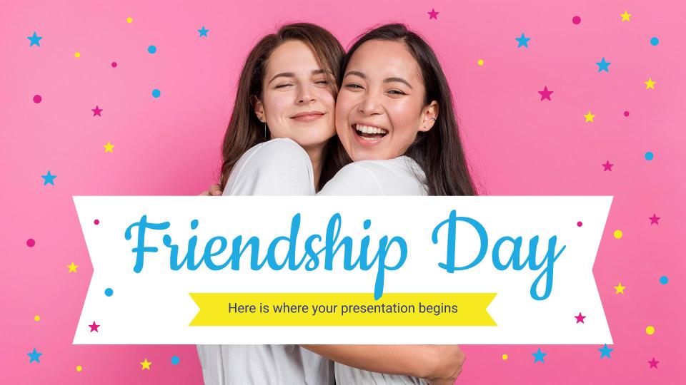 Plantilla de presentación Día Internacional de la Amistad