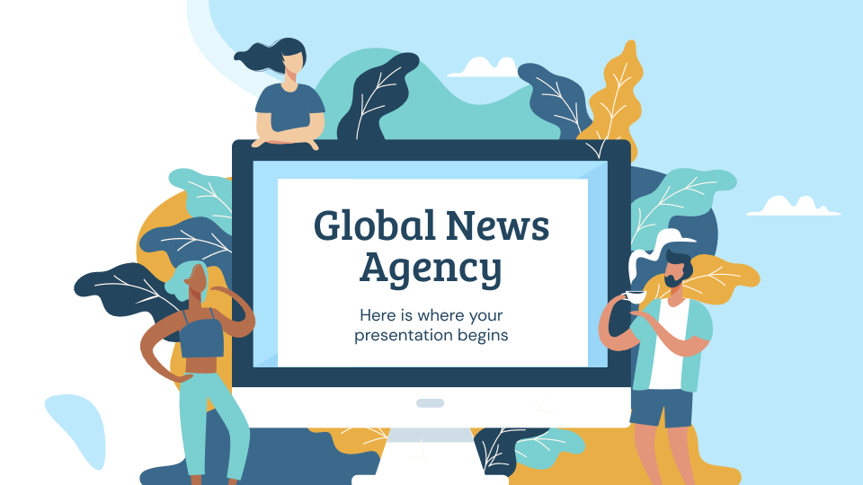 Global News Agency presentation template