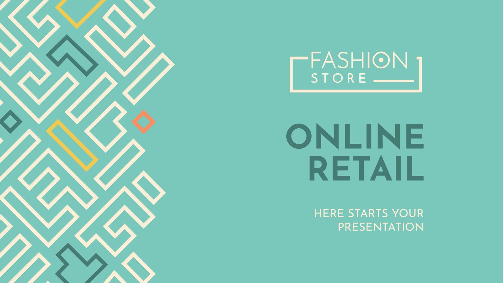 Plantilla de presentación Branding para tienda de ropa online