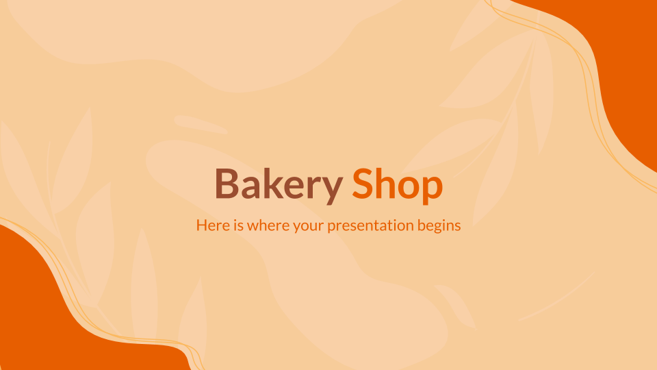 Bakery Shop presentation template