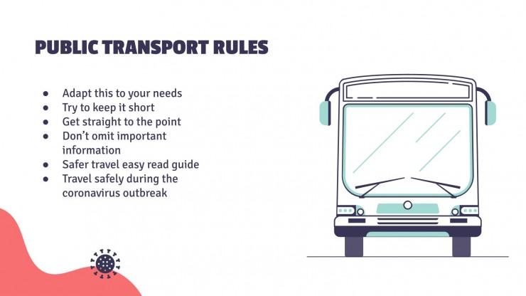 Plantilla de presentación COVID-19 y transporte público