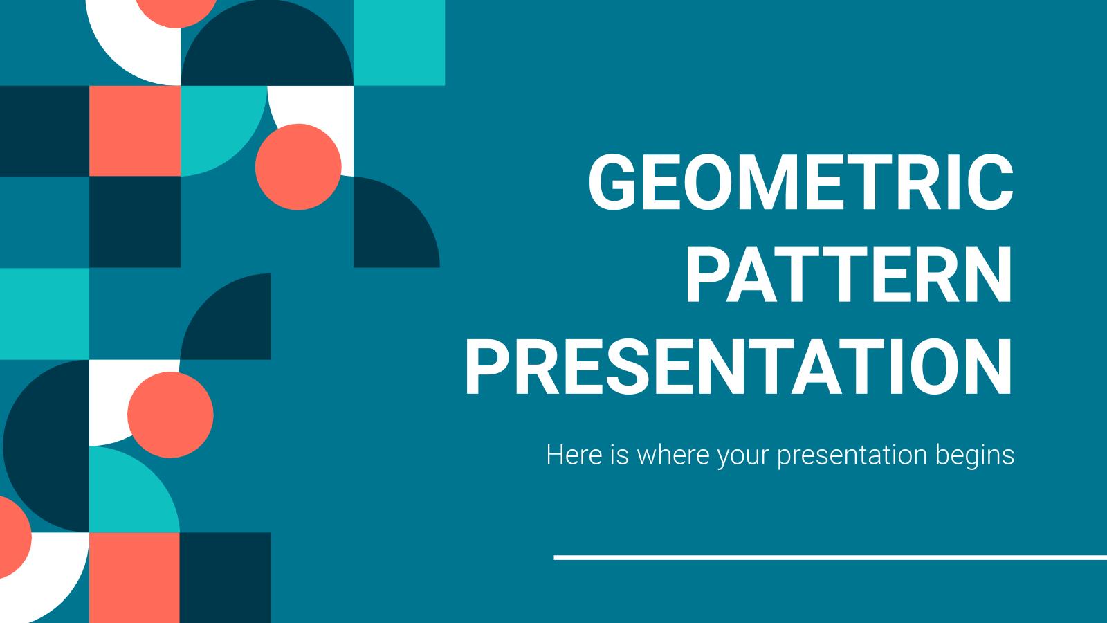 Geometric Pattern presentation template