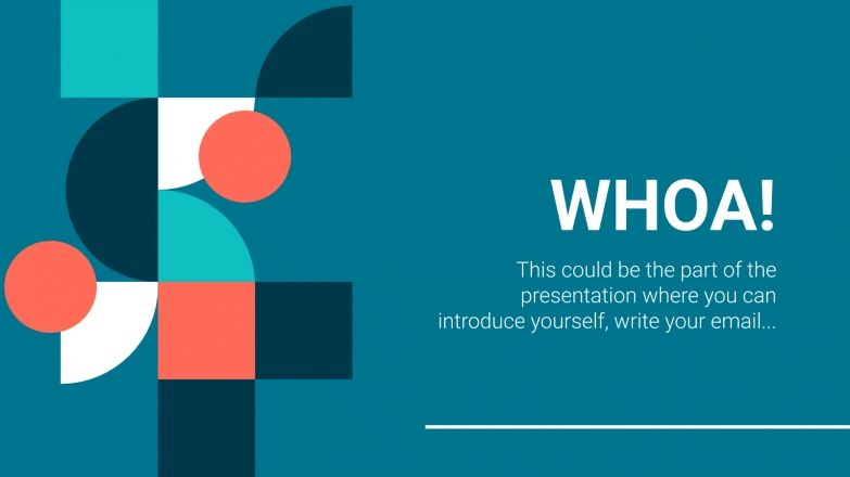 Geometric Pattern presentation template